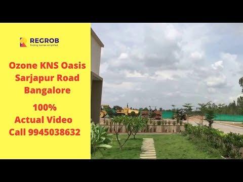 Ozone KNS Oasis Sarjapur Road Bangalore | Actual Video | Call 9945038632 | Plots For Sale Sarjapur