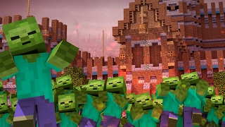 Minecraft | ZOMBIE HORDE RULES THE WORLD! (Morph Hide and Seek)