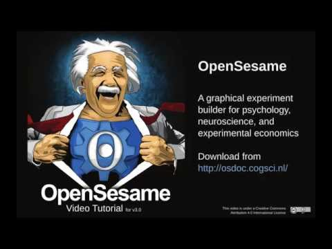 Creating a psychology experiment with OpenSesame 3.0