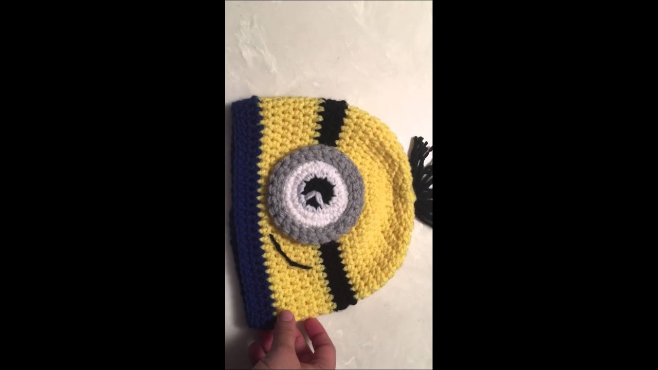 Diy How To Crochet Minion Hat Youtube