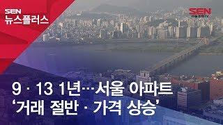 9·13 1년…서울 아파트 '거래 절반·가격 상승'