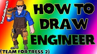 How To Draw Engineer from Team Fortress 2 ✎ YouCanDrawIt ツ 1080p HD