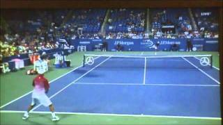 james blake us open 2011 biggest forehand in tennis history