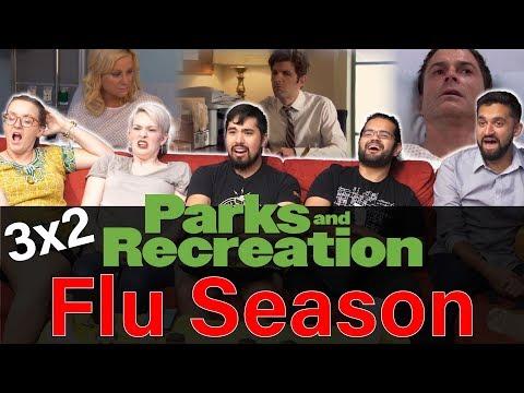 Parks And Recreation - 3x2 Flu Season - Group Reaction