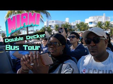 Riding The MIAMI Double Decker Tour Bus