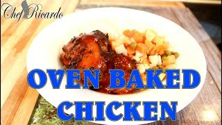 Oven Baked Spicy Baked Chicken With Rice & Veg (New Recipe) | Recipes By Chef Ricardo