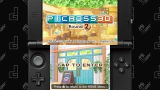 Picross 3D Round 2 - 75 Minute Playthrough [3DS]