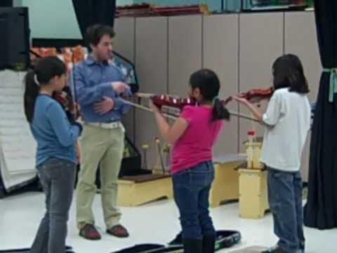 Composer in Residence works with Celebrate Strings Kids