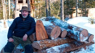 Wilderness Lumberjack Workout | Cherry Wood | Basic Bushcraft Project