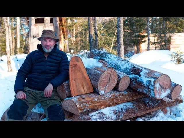 Wilderness Lumberjack Workout with an Axe | Cherry Wood | Basic Bushcraft Project