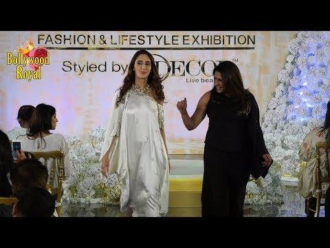 Farah Ali Khan Walks Ramp For Reshma Merchant At Joya Fashion & Lifestyle Exhibition