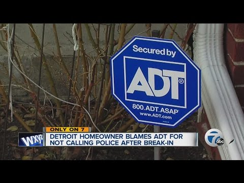 Man blames ADT for not calling police