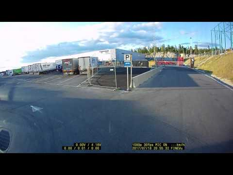 Norway. Langhus LKW parking