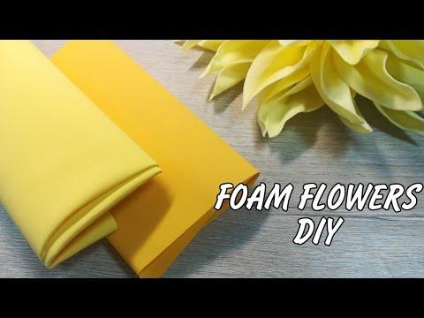 Easy large foam dahlia  Wedding flowers diy  Foam sheets flower  عمل