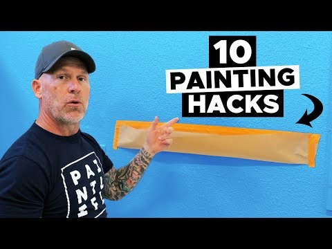 10 AMAZING Painting Hacks.  Paint Like A PRO.