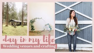 VLOG//wedding venues and crafting for wedding!