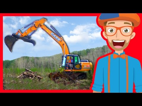 Thumbnail: Construction Trucks for Children with Blippi | Excavators for Kids