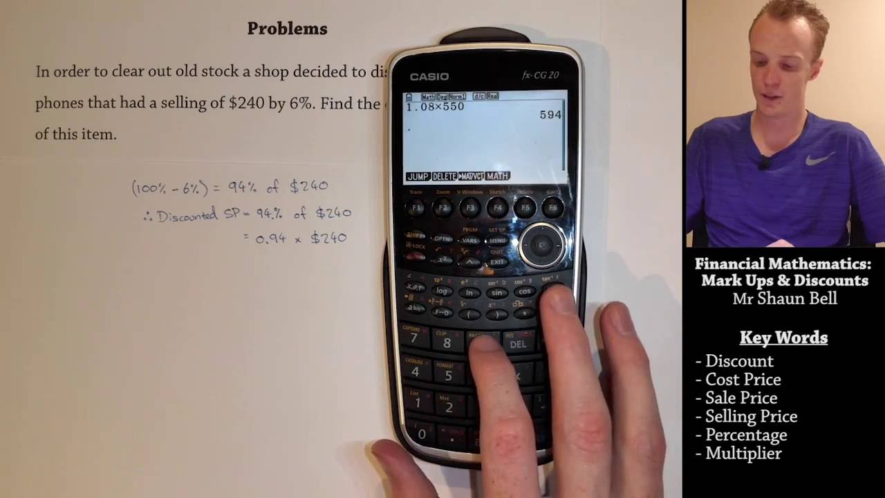 Financial Mathematics: Mark Ups & Discounts - YouTube
