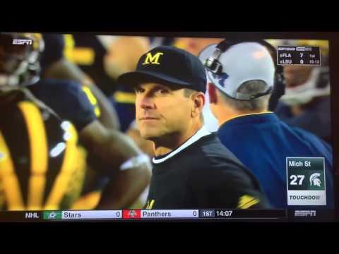 #12 Michigan vs #7 Michigan St  Fumbled Snap