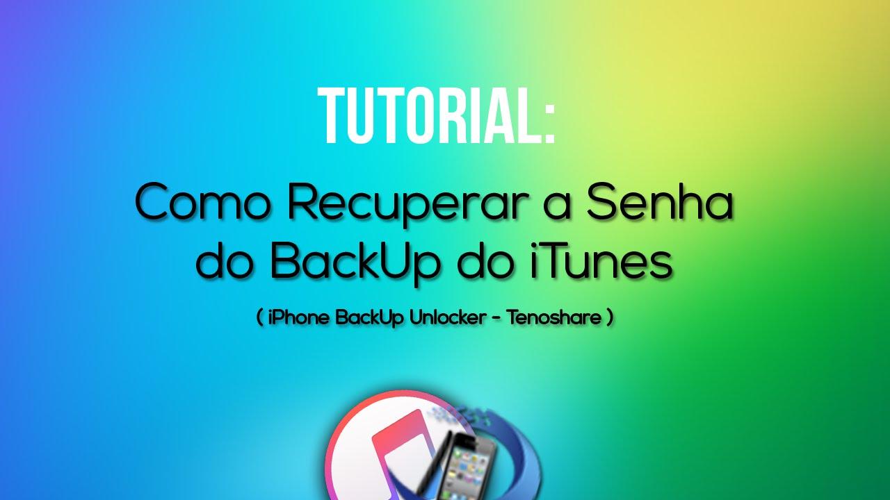 como fazer backup do iphone no itunes