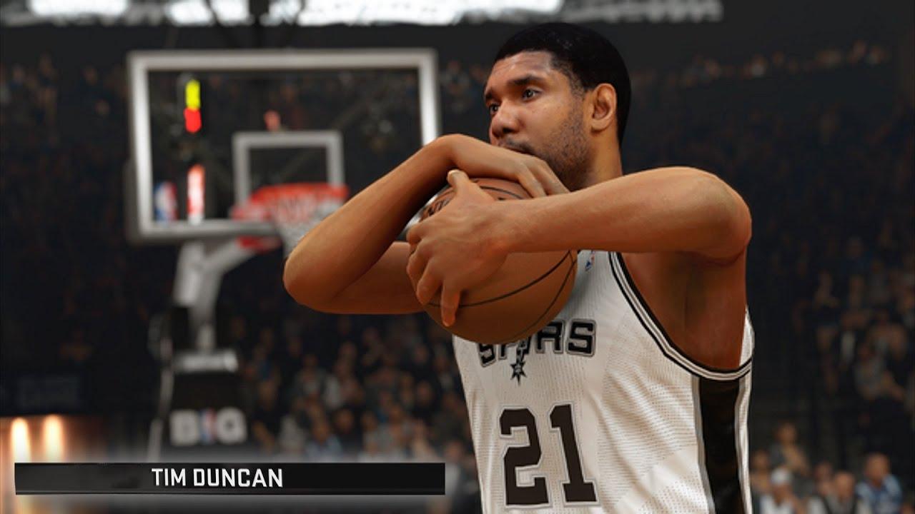 NBA 2K16 Tim Duncan 100 Point Challenge NBA 2K16 Diamond Tim