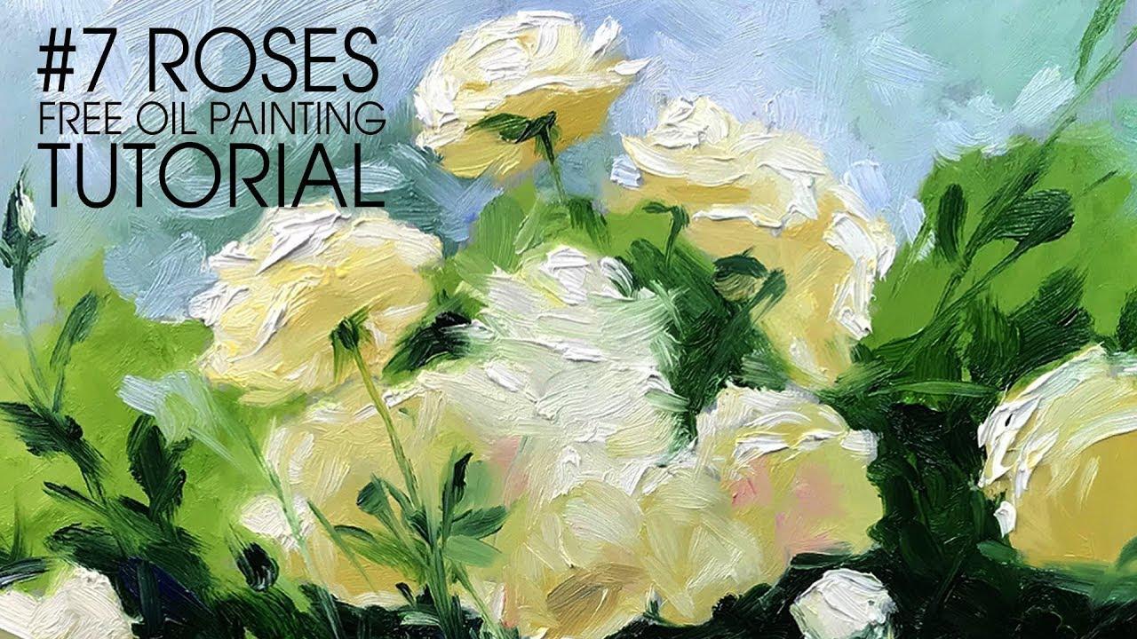 Sunflower oil painting tutorial #5 flower series wet on wet.