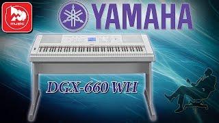 YAMAHA DGX-660 - синтезатор с клавиатурой как у цифрового пианино