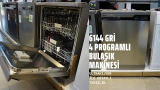 6144 I İnoks Arçelik Yeni 4 Programlı Bulaşık Makinesi | 6144 Arçelik Bulaşık Makinesi gri tanıtımı
