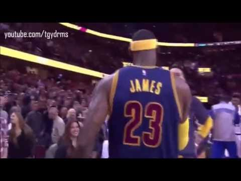 LeBron James first Chalk Toss ! Cleveland Cavaliers Return 2014
