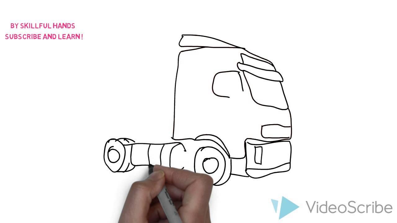 как нарисовать фуру volvo