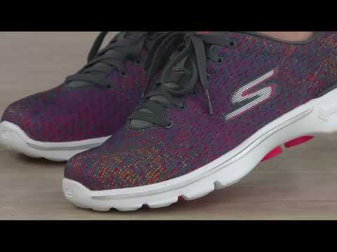 Skechers GO Walk 3 Printed Lace up Sneakers Digitize on