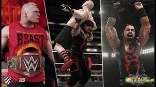 WWE2K18: Roman Reigns vs Brock Lesnar: Wrestlemania 34 Prediction Highlights: Universal Chapionship