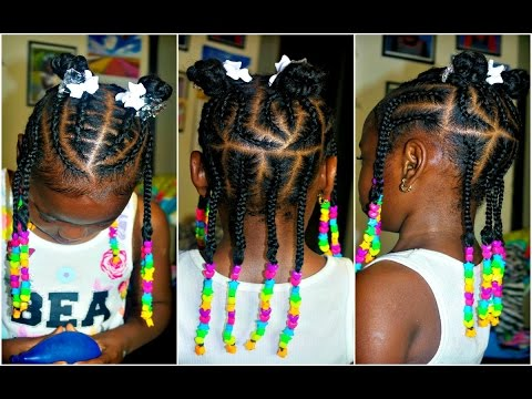 Watch Me Braid Little Girls 4 A Natural Hair Cute Braid Style