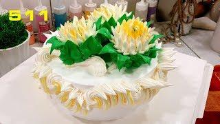 Cake Art flower daisies  decorate - Bánh hoa cúc và trang trí đẹp (511)
