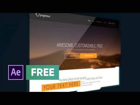free after effects template - website presentation - youtube, Presentation templates