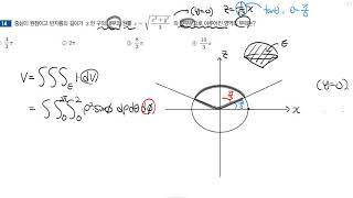 [JS 편입수학 기출해설] 단국 2014 #14 (부피…