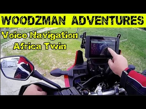 Adventure Motorcycle with Street & Voice Navigation Magellan TRX7 Honda Africa Twin CRF1000L