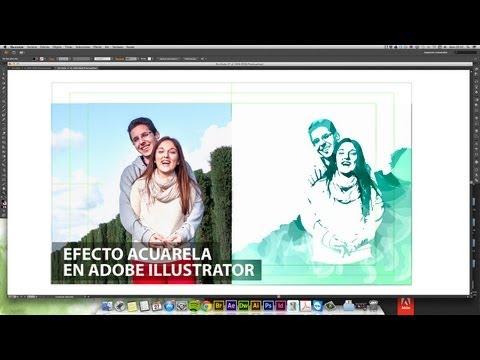 Tutorial Illustrator / De foto a dibujo efecto acuarela by @conecta