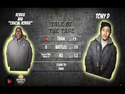 RAP BATTLE: ROBBIE vs TONY D (SPURS FAN & CHAMPION MC) | MondoGoal Forfeit