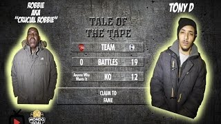 RAP BATTLE: ROBBIE vs TONY D (SPURS FAN & CHAMPION MC) | MondoGoal Forfeit