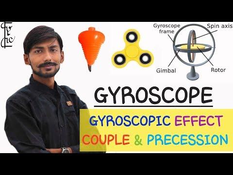 [HINDI] GYROSCOPE ll GYROSCOPIC EFFECT ll GYROSCOPIC COUPLE ll PRECESSION or PRECESSIONAL MOTION