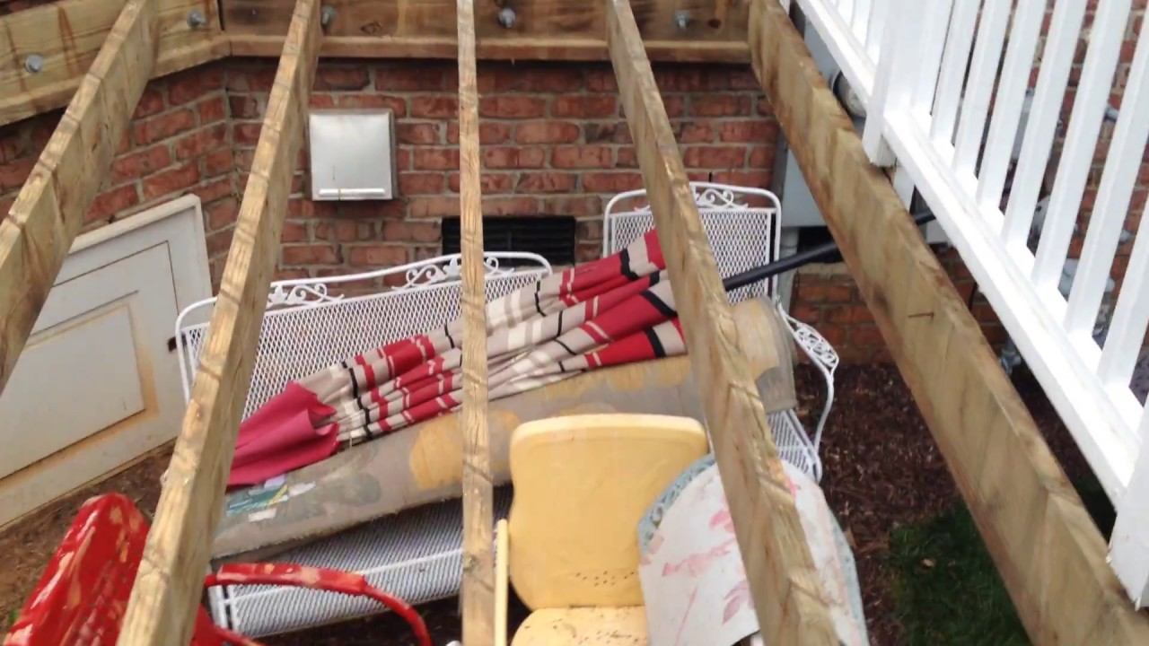 Deck Restoration Replacing Wood To Composite Material Youtube