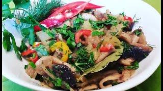 Овощное рагу с грибами.Быстро и вкусно.