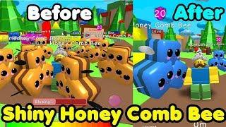 I Got Shiny Honey Comb Bee! New Rarest Pets! - Bubble Gum Simulator