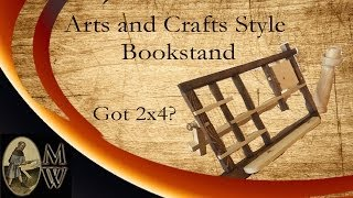 Arts And Crafts Style Bookstand, Part Of The Summers Woodworking 2x4 Competition (monkwerks)