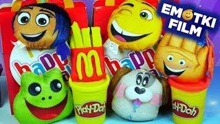 Play Doh Happy Meal • Emotikonki z McDonalds • Emotki Film • Unboxing
