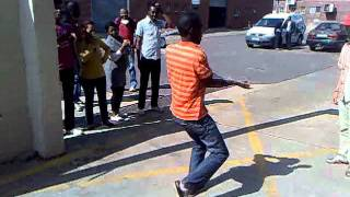 Pantsula dance perfomed by factory workers in Pretoria, SA