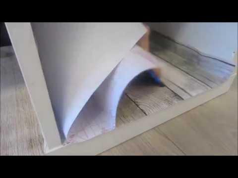 Nieuw Kastje beplakken met plakfolie Woody - YouTube TZ-76