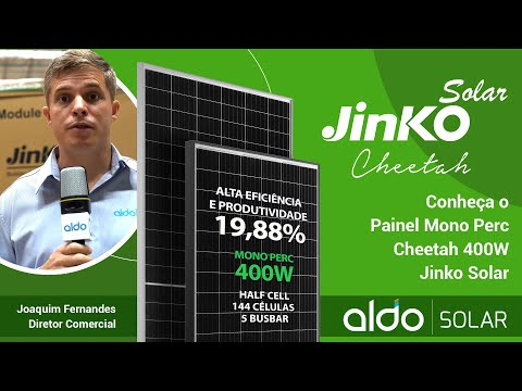 Conheça o Painel Mono Perc Cheetah 400W na Aldo Solar