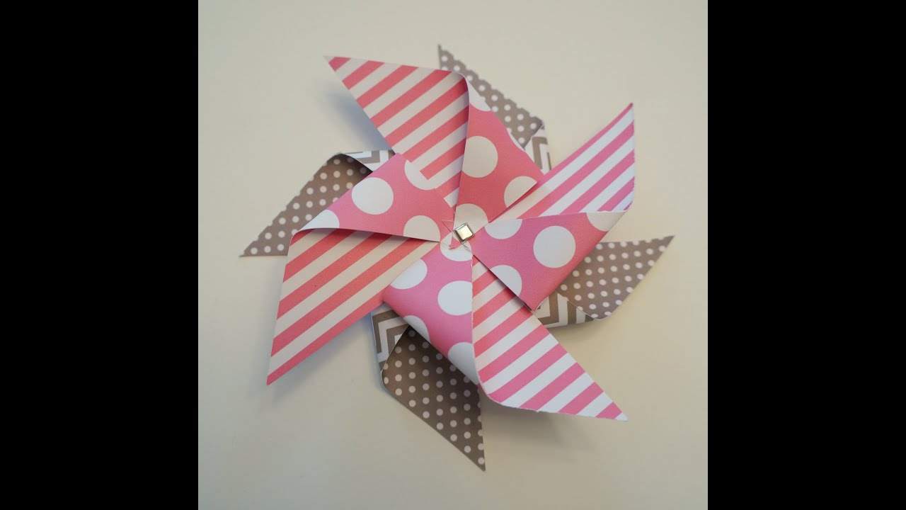 Easy Double Paper Pinwheel TutorialYouTube